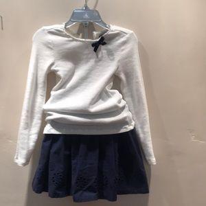 Long sleeve shirt and skirt